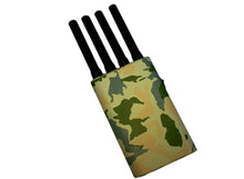 Load image into Gallery viewer, 4 Antenna Handheld GPS 3G Cellphone Signal Jammer with Camouflage Cover