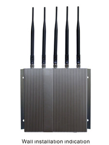 12W High Power Remote Controlled 5 Antennas Mobile Phone Jammer