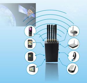 5 Antenna Portable 2G 3G Mobile phone WiFi GPS Signal Jammer