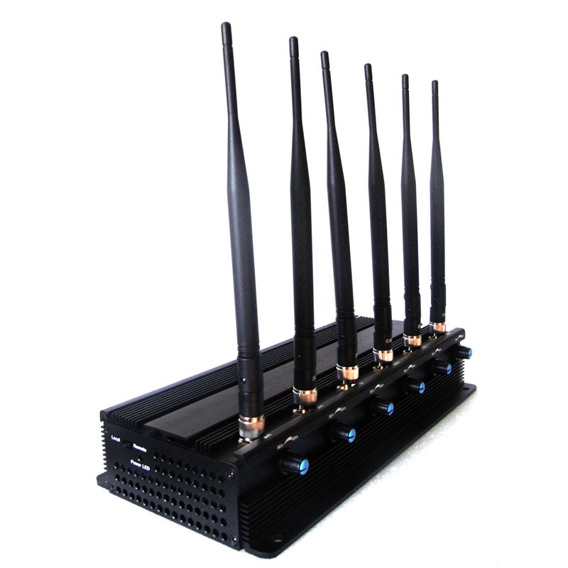 Adjustable 7W Powerful All Wireless Bug Camera Jammer & WiFi GPS Blocker