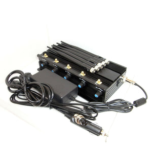 12W High Power 5 Antennas Desktop Mobile Phone and GPS Jammer