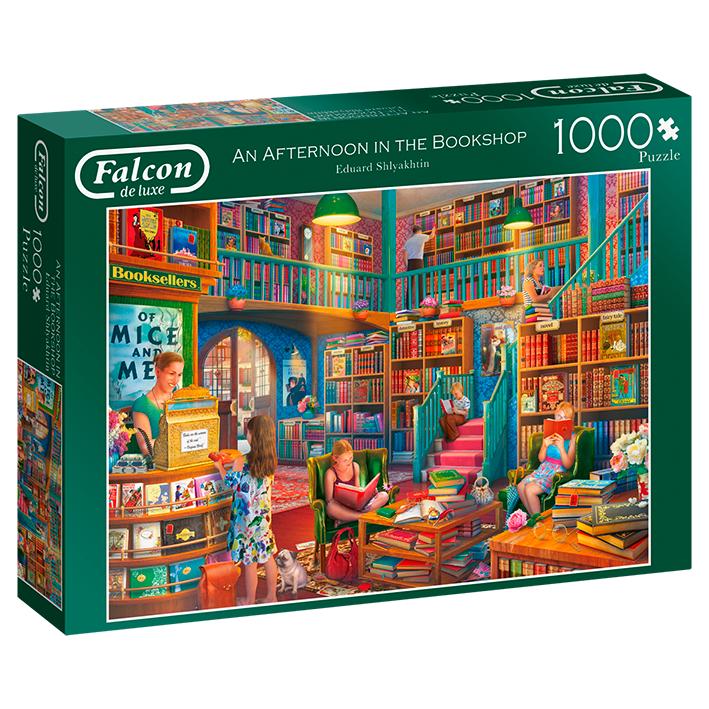 An Afternoon In The Bookshop - 1000 Piece Puzzle