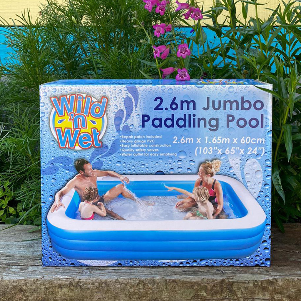 Large Heavy Duty Oblong Paddling Pool