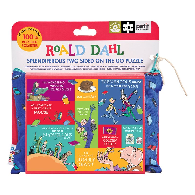 Roald Dahl Two Sided 49 Piece Puzzle In Keepsake Pouch