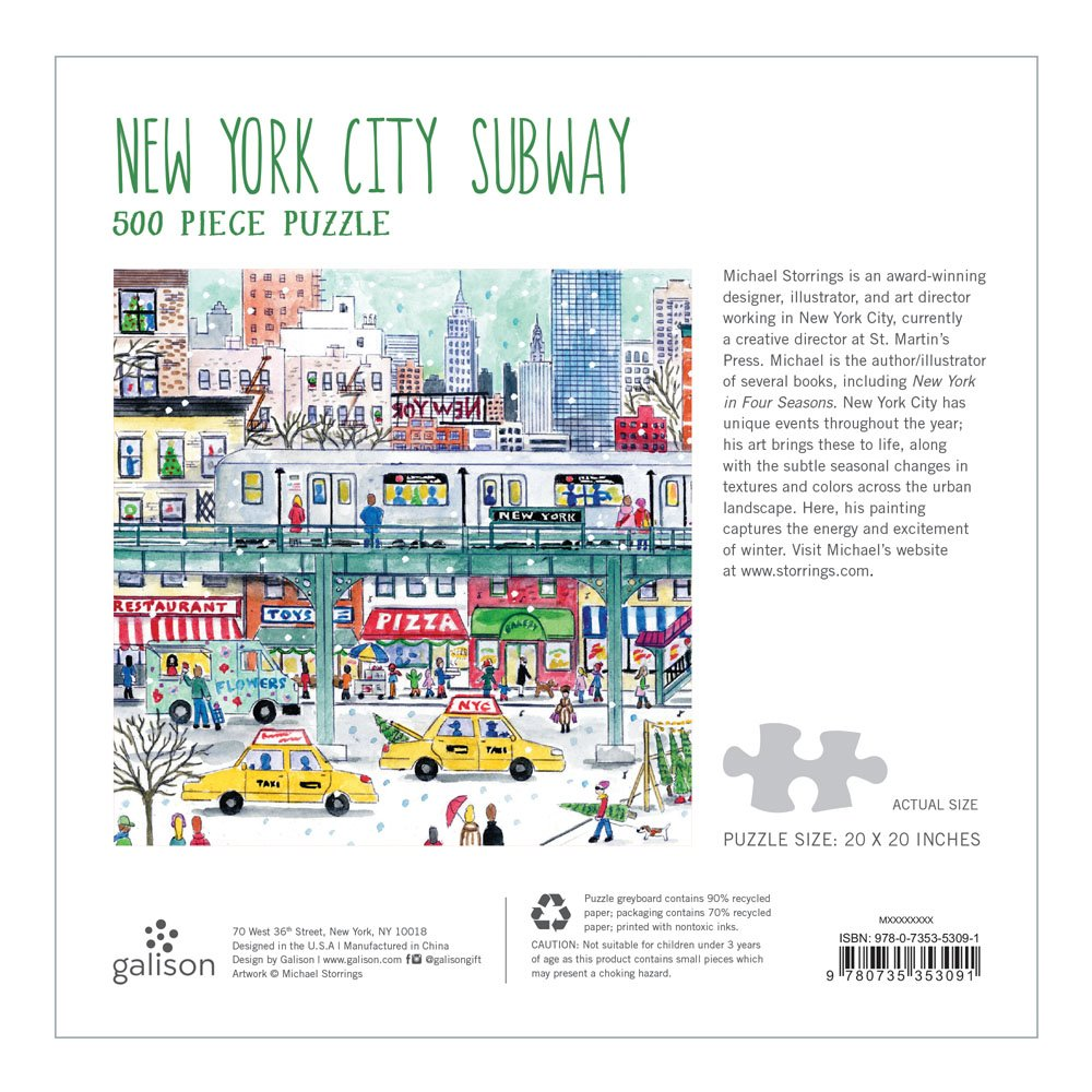 Michael Storrings New York City Subway 500 Piece Puzzle