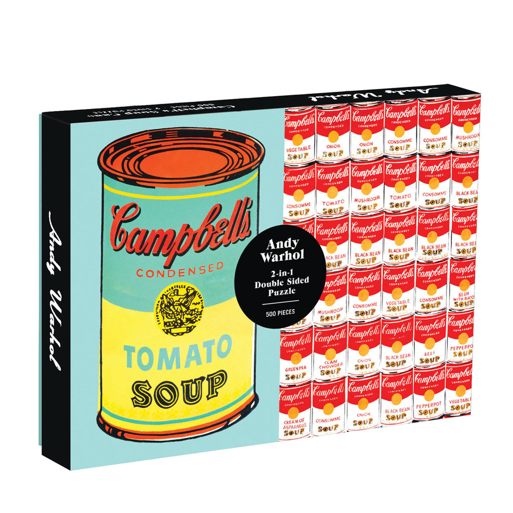 Andy Warhol Soup Can - Double Sided 500 Piece Puzzle
