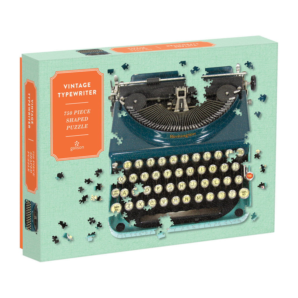 Vintage Typewriter Shaped 750 Piece Puzzle