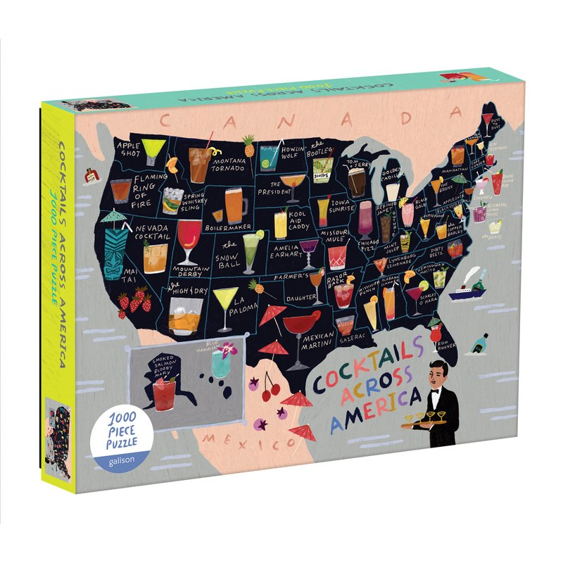 Cocktail Map Of The USA - 1000 Piece Puzzle