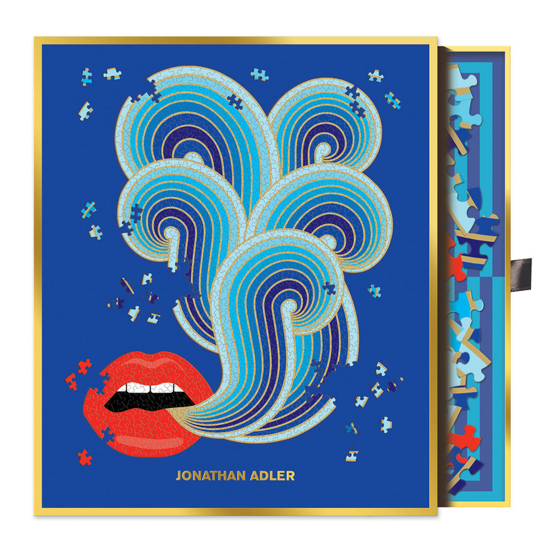 Jonathan Adler Lips Shaped 750 Piece Puzzle