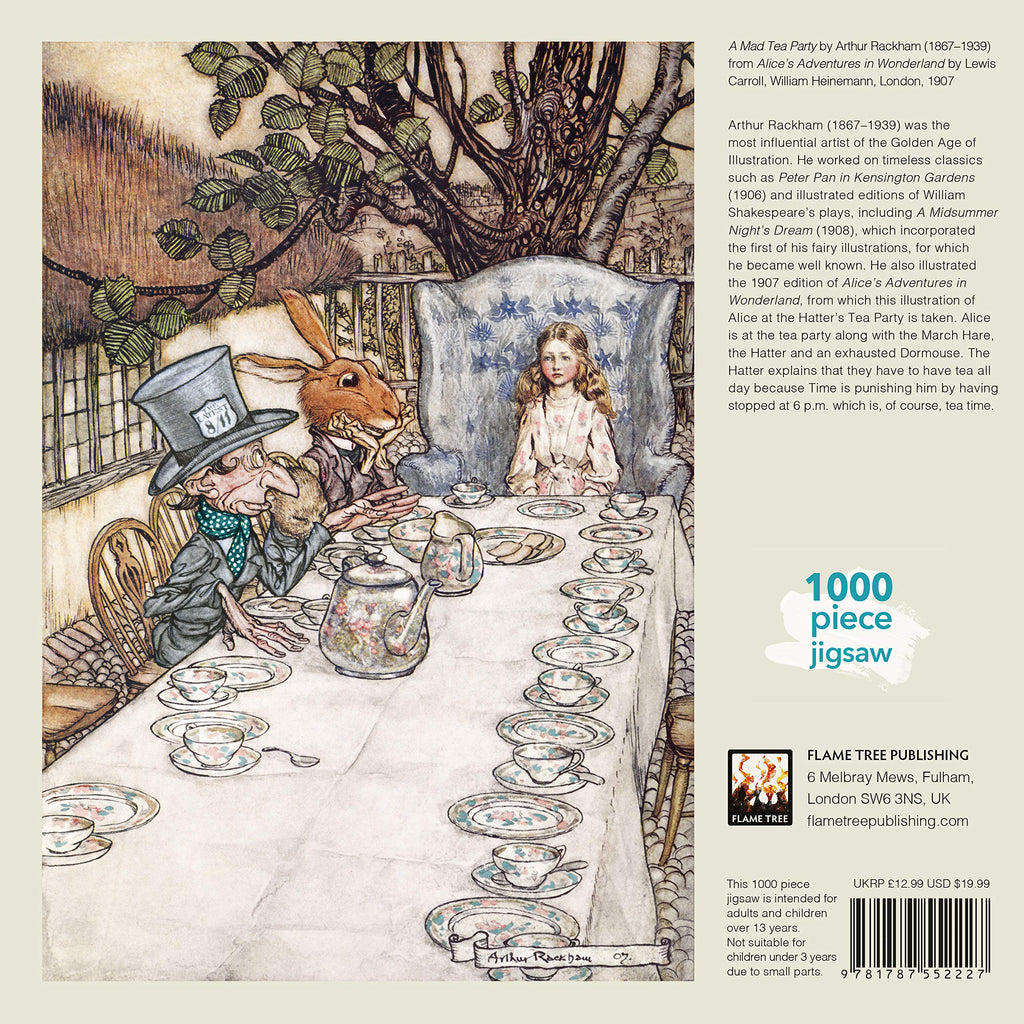 Alice In Wonderland Tea Party, Arthur Rackham - 1000 Piece Puzzle