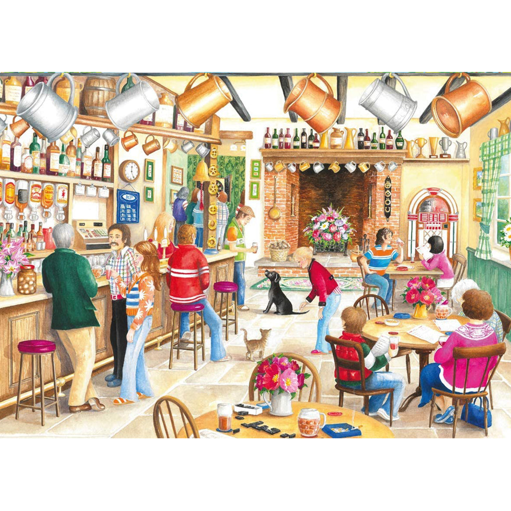 A Summer Evening At The Pub - 2 x 500 Piece Puzzle