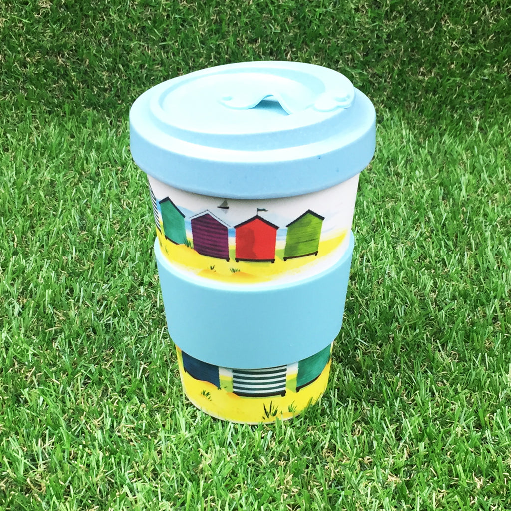 Bamboo Travel Cup - Beach Huts