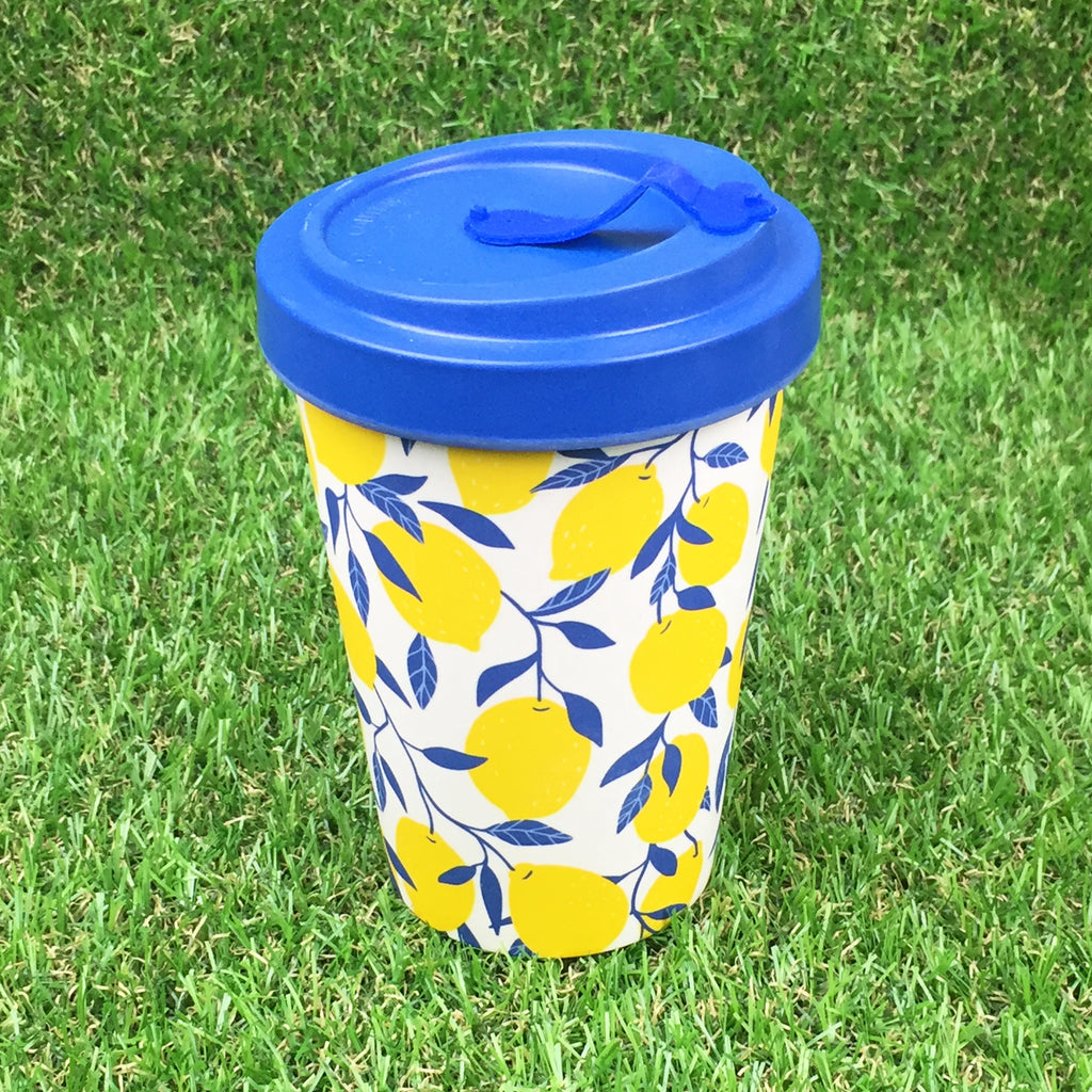 Bamboo Travel Cup - Lemons