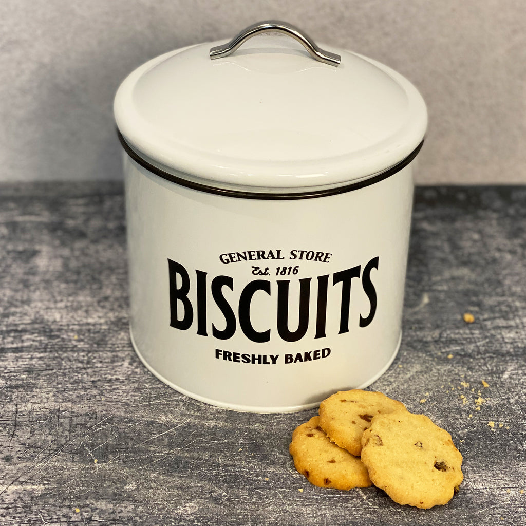 Enamel Biscuit Tin