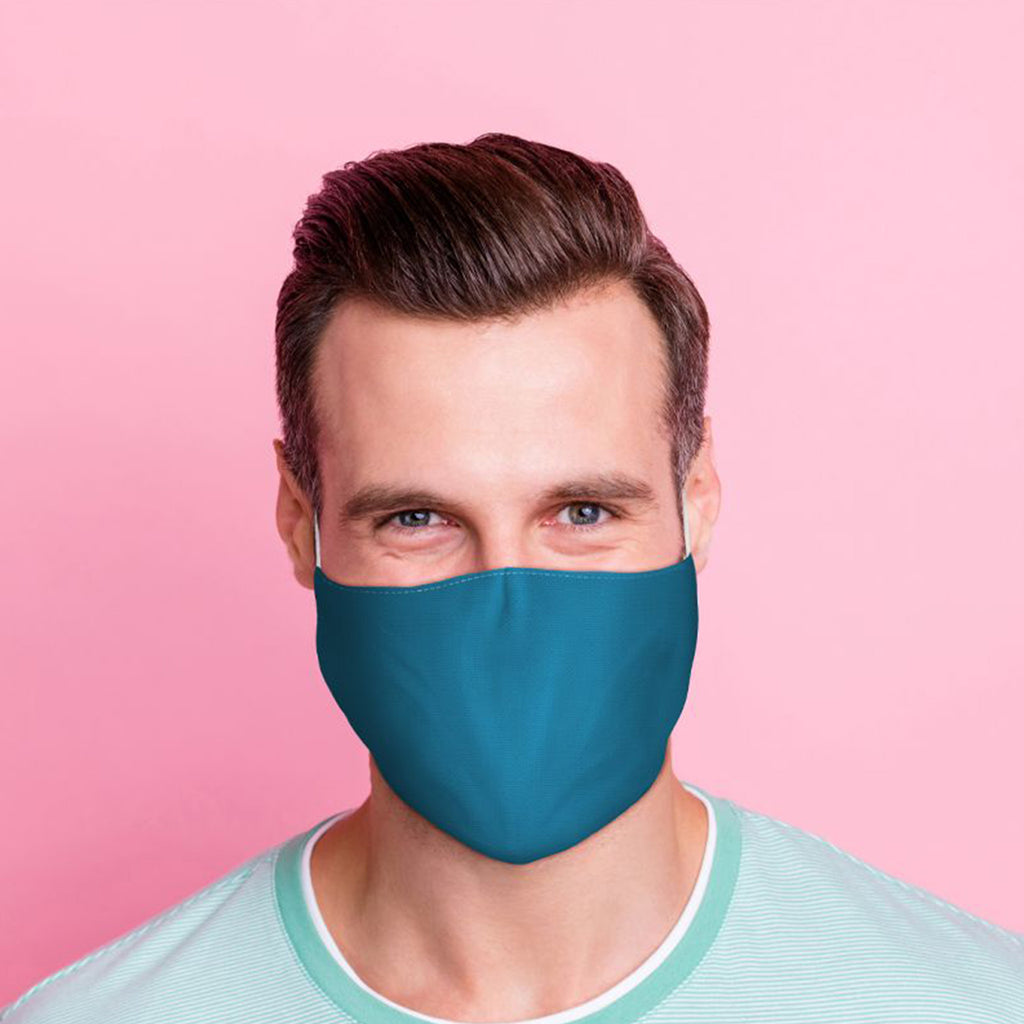 Blue Reusable Face Mask Adult