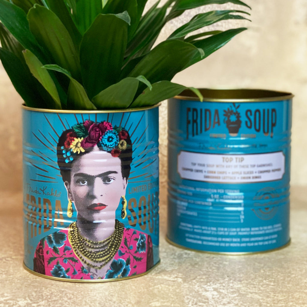 Frida Kahlo Large Blue Storage Tin