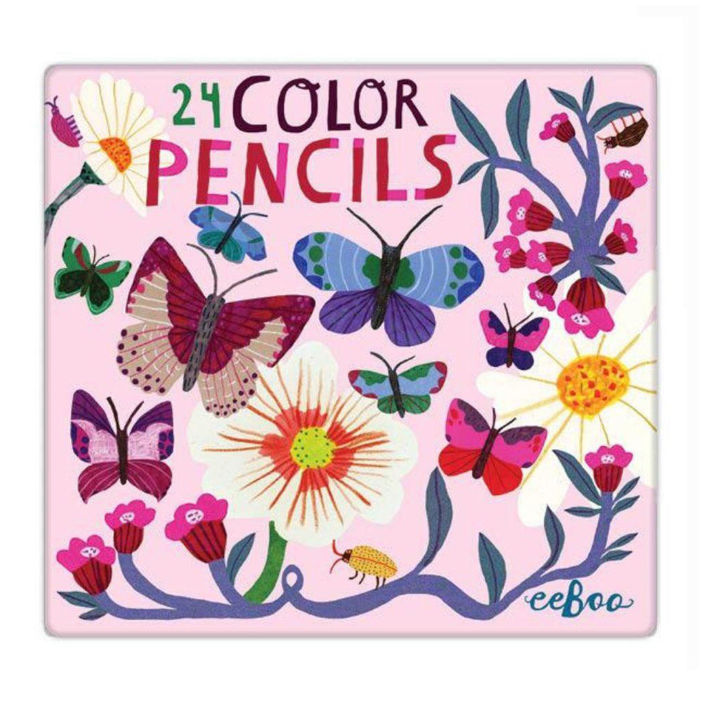 Butterflies & Flowers 24 Deluxe Pencils