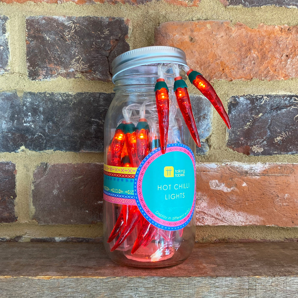 Boho Chilli Lights In Jar