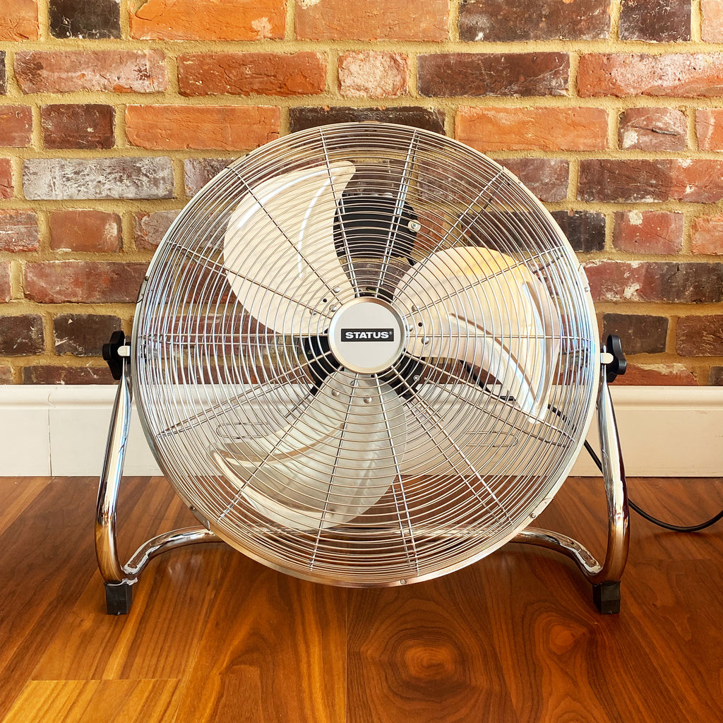 "18"" High Velocity Chrome Floor Fan"