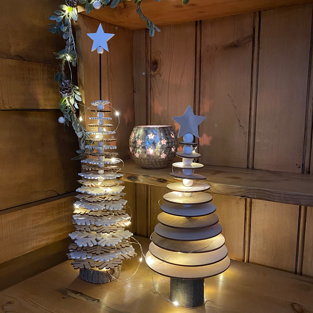 Circle Christmas Tree on Wooden Stand