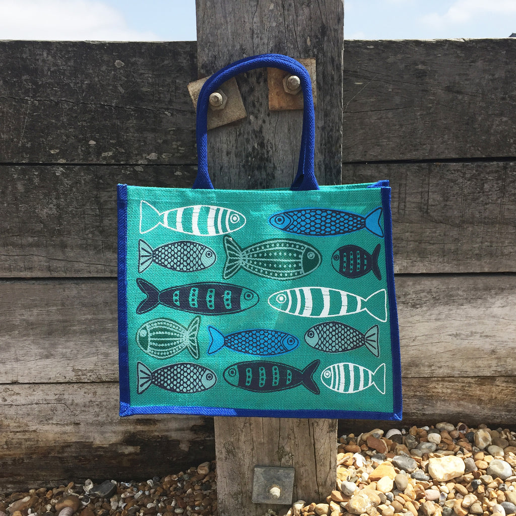 Coastal Canvas Shopping Bag Fish