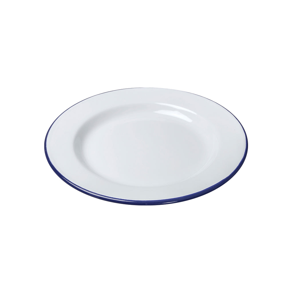 White Enamel Dinner Plate - 22cm