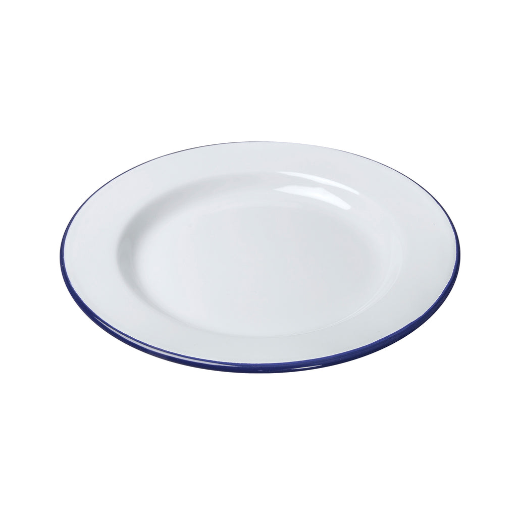 White Enamel Dinner Plate - 24cm