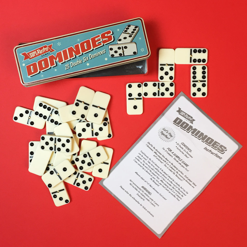 Retro Dominoes Set
