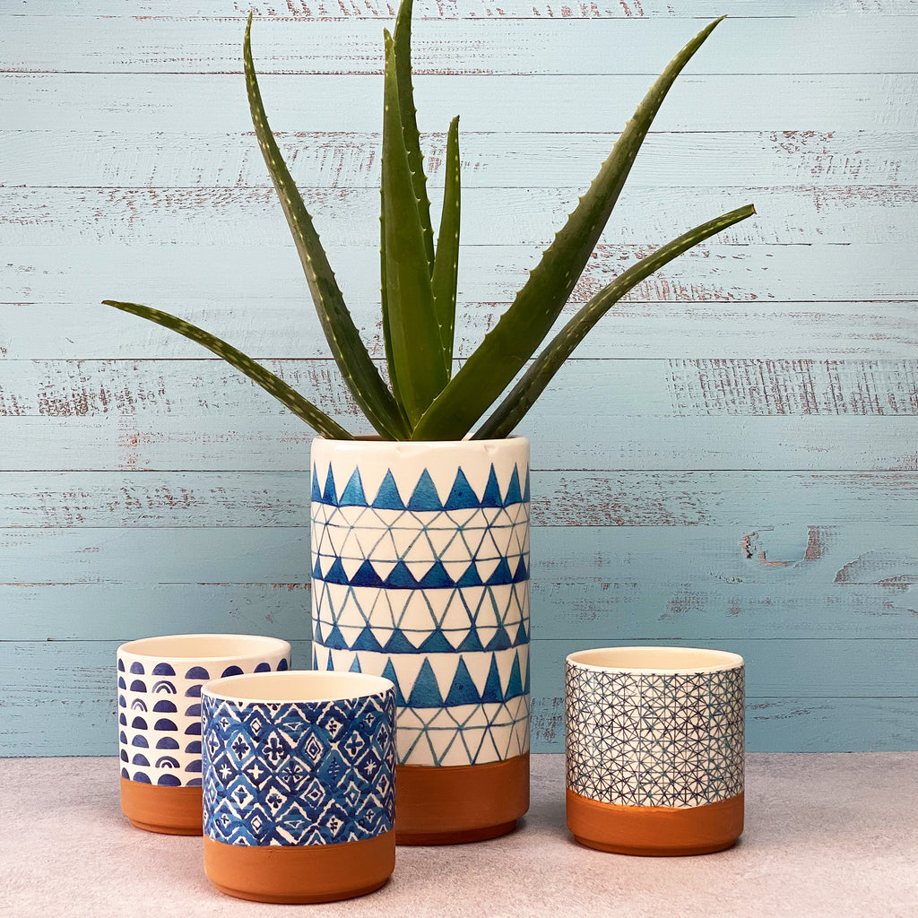 Tall El Cotillo Ceramic Vase