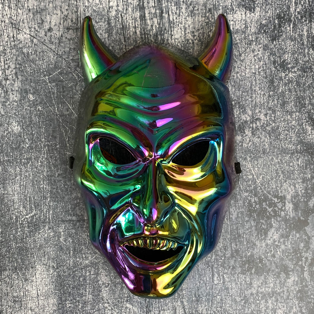 Electroplated Scary Halloween Mask