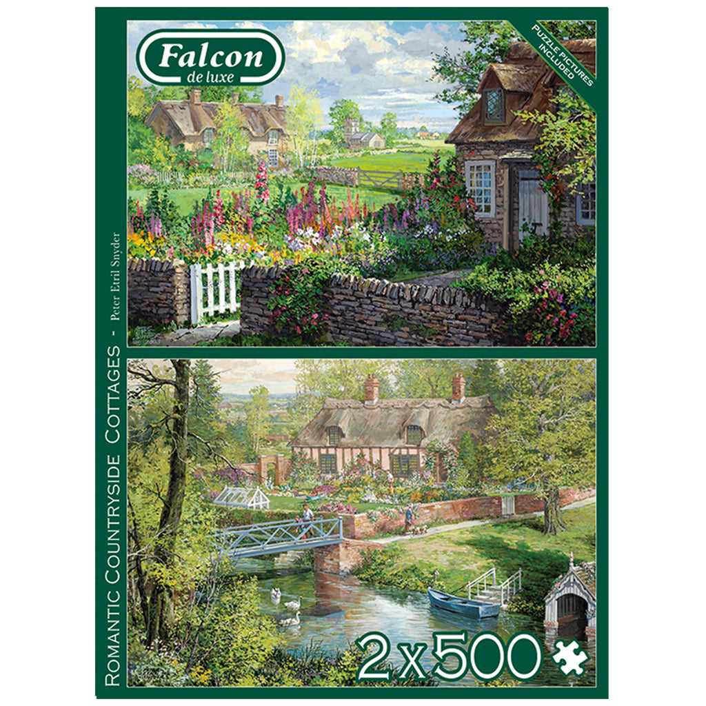 Romantic Countryside Cottages 2 x 500 Piece Puzzle