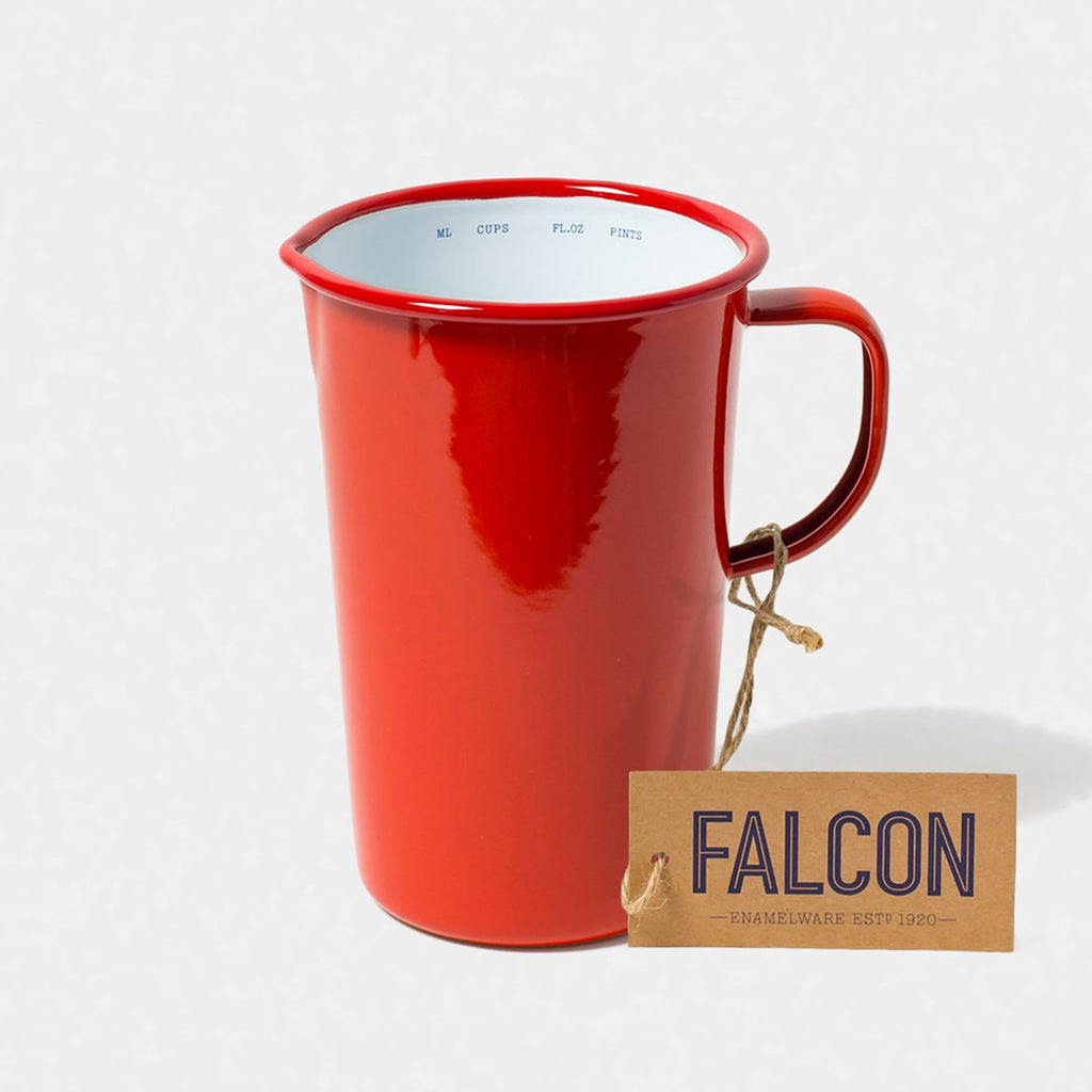 Falcon Enamel 2 Pint Jug Pillarbox Red