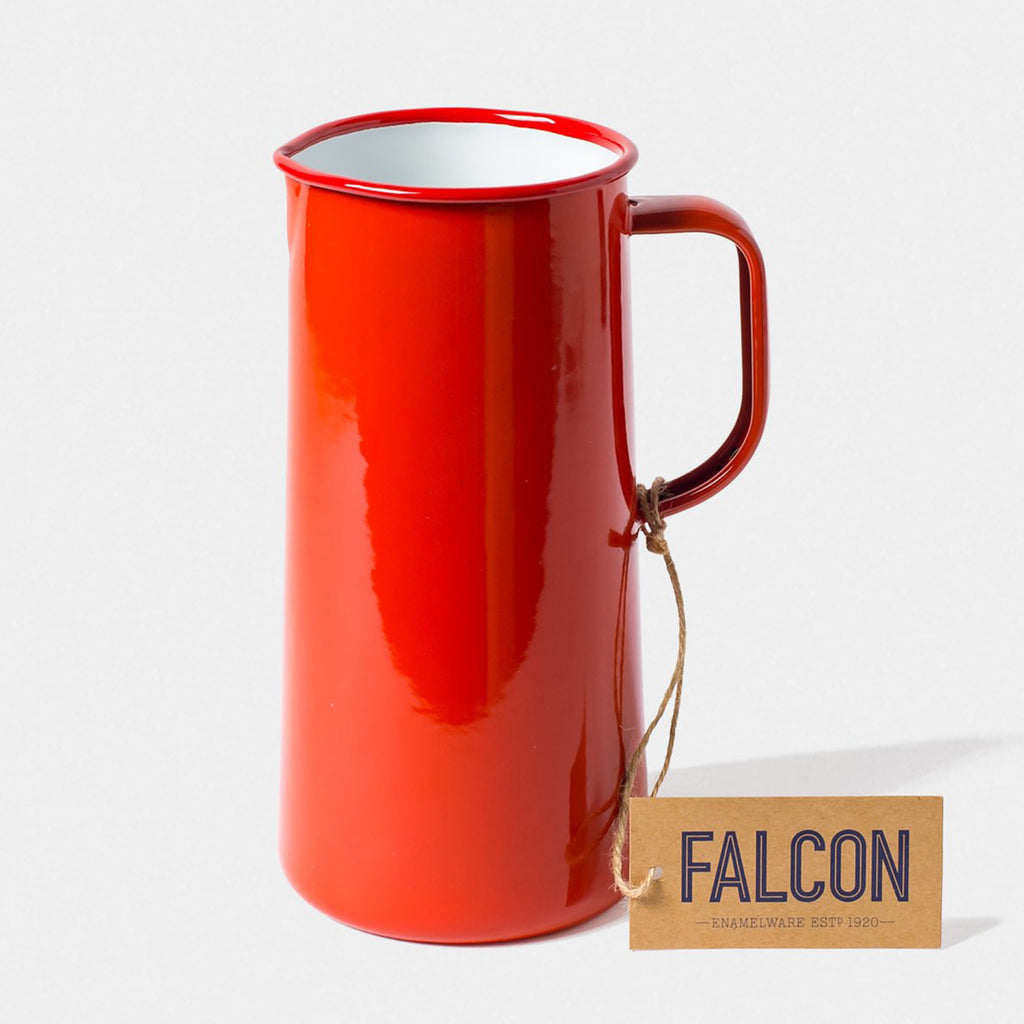 Falcon Enamel 3 Pint Jug Pillarbox Red