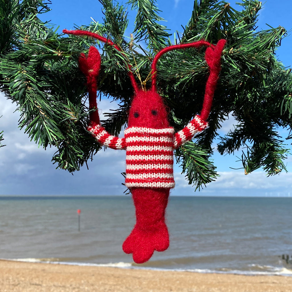 Lobster In Pullover Hanging Decoration
