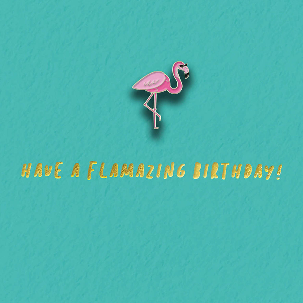 Flamingo Enamel Pin Card
