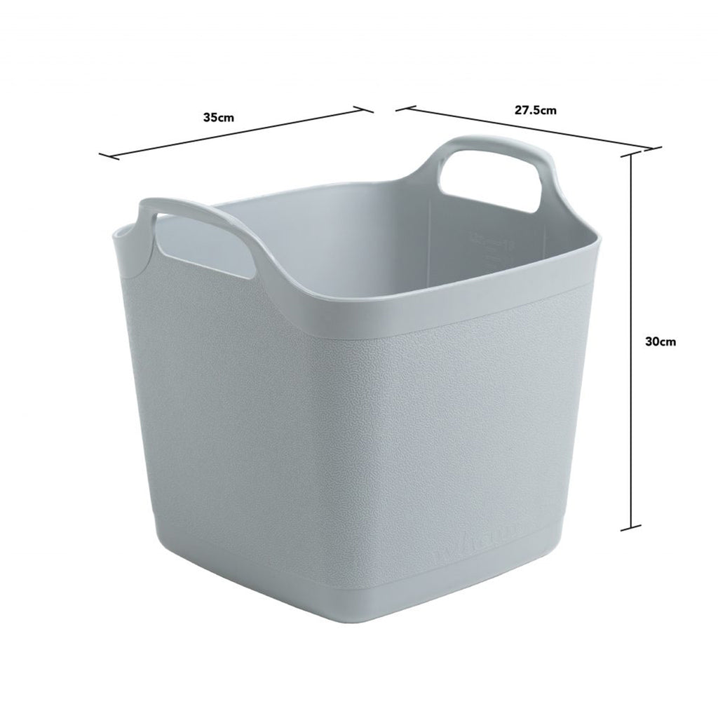 Flexi-Square 15L Graduated Tub Cool Grey