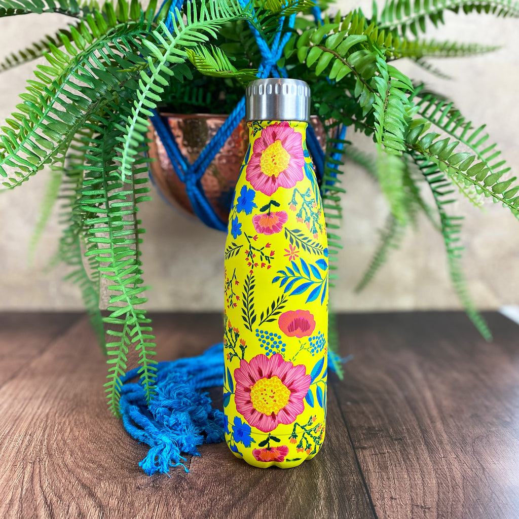 Boho Floral Stainless Steel Drinks Bottle