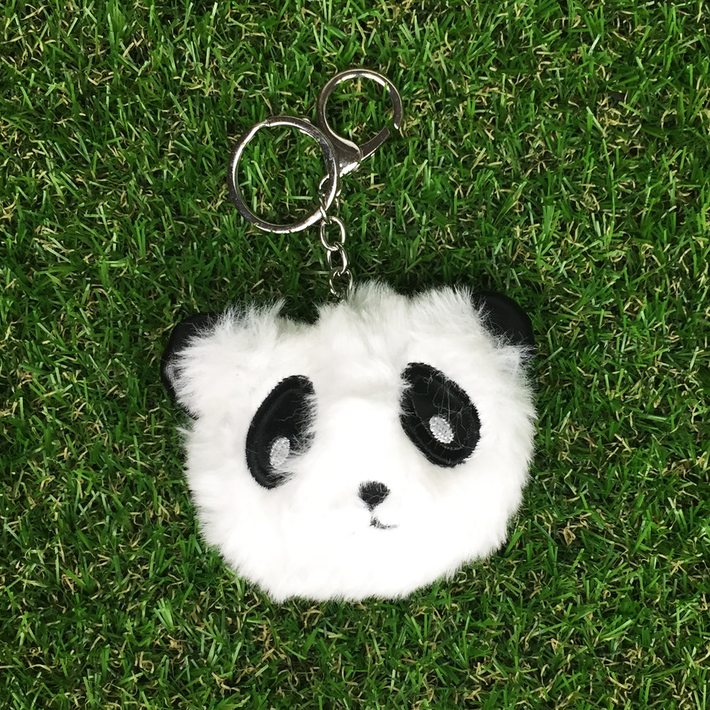 Fluffy Panda Key RIng