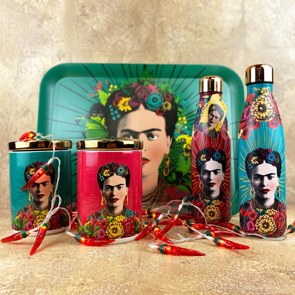 Frida Kahlo Metal Water Bottle
