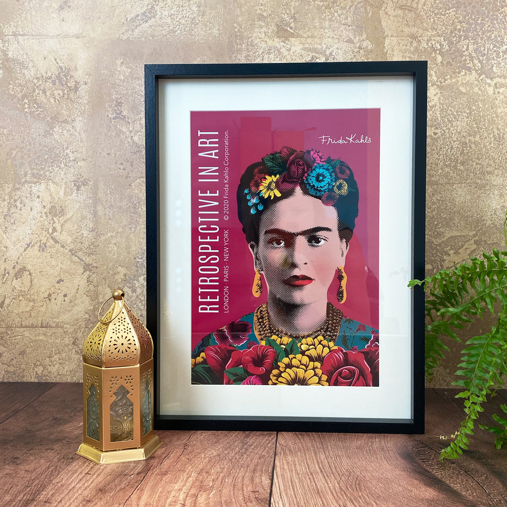 Frida Kahlo Art Print Black Frame