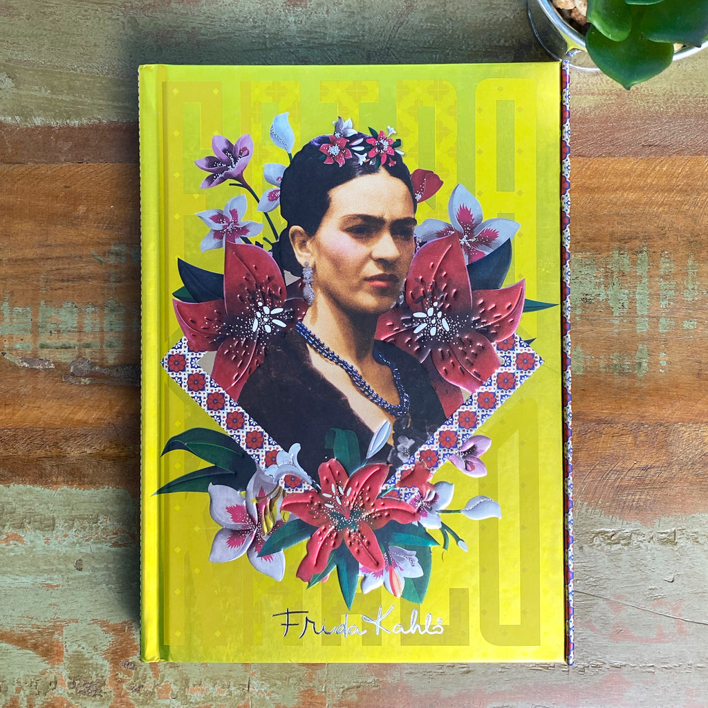 Frida Kahlo Yellow Lined Journal