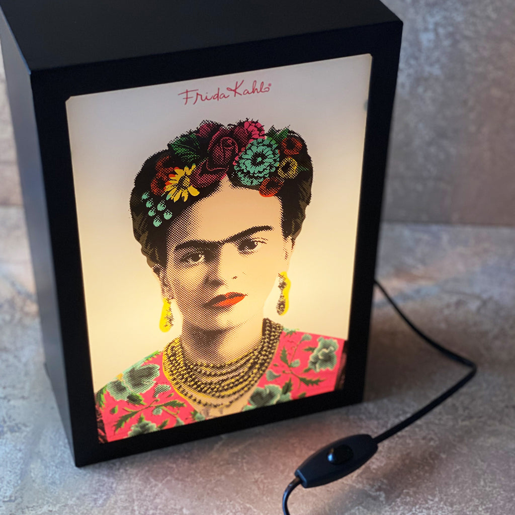 Frida Portrait Lightbox Pink
