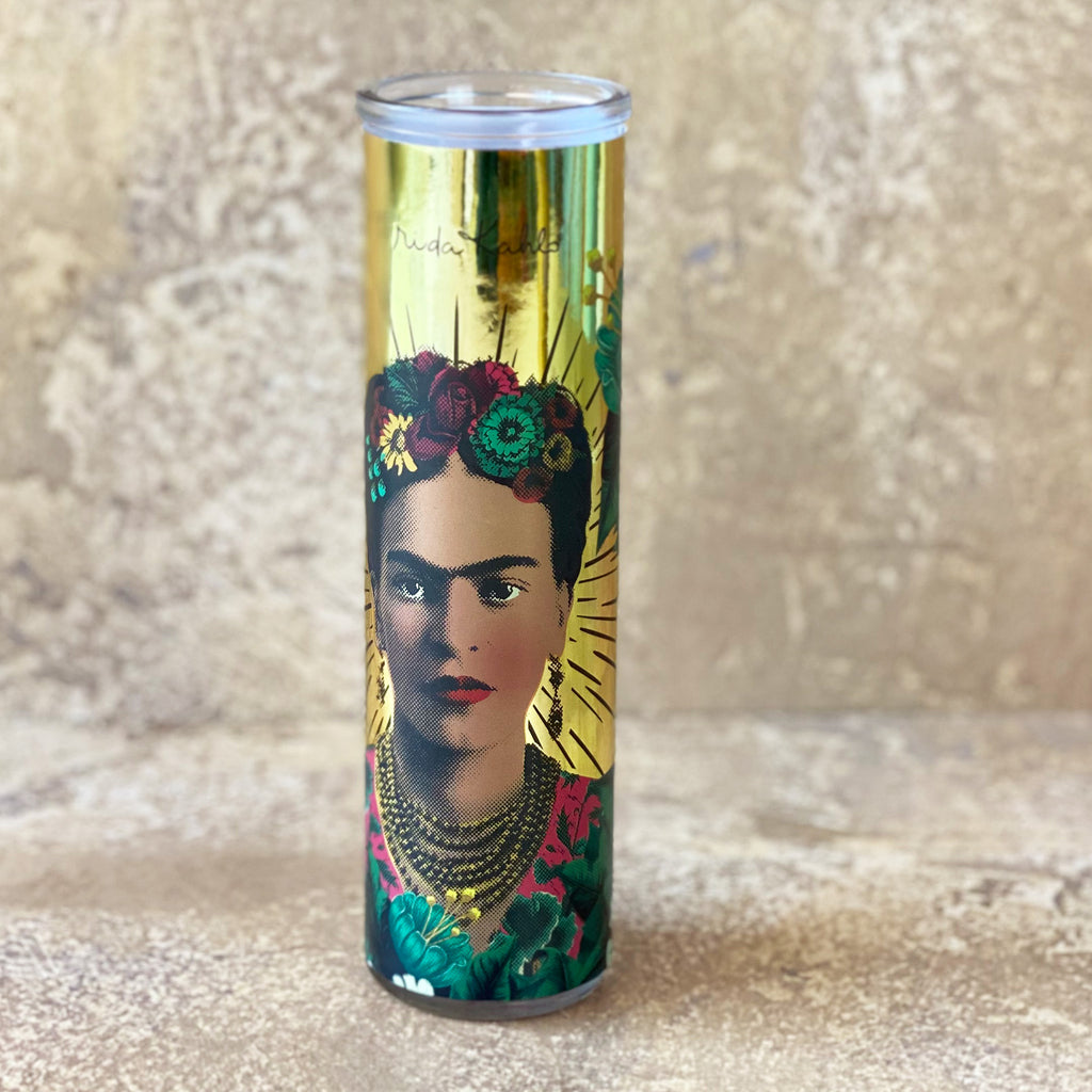 Frida Kahlo Glass Candle Pot