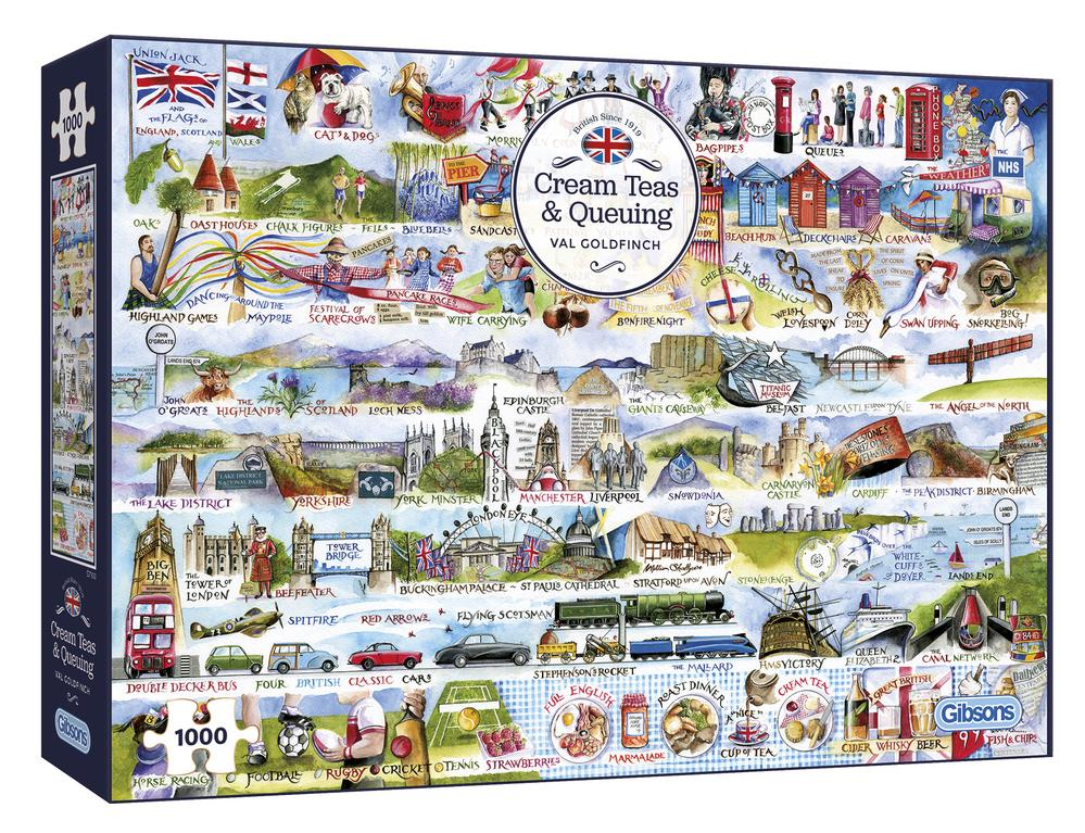 Cream Teas & Queuing 1000 Piece Puzzle