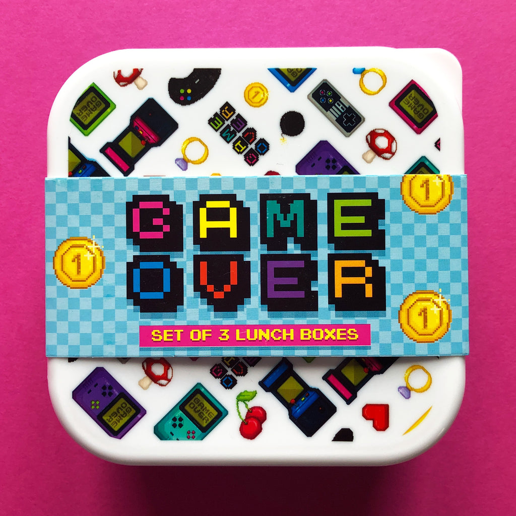 Game Over Set of Snack Boxes
