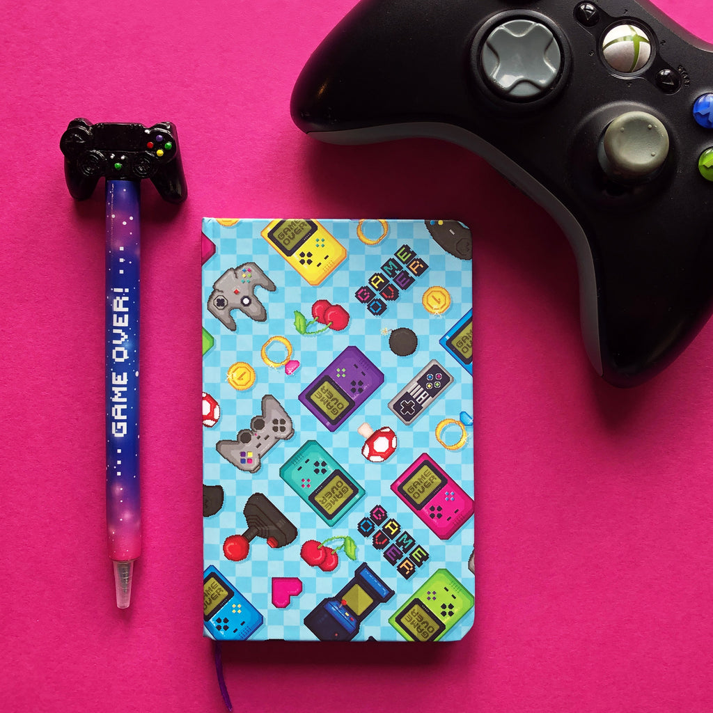 Game Over Lined Notebook