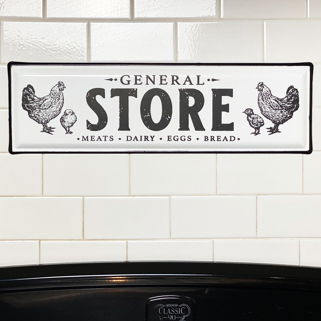 General Store Enamel Sign