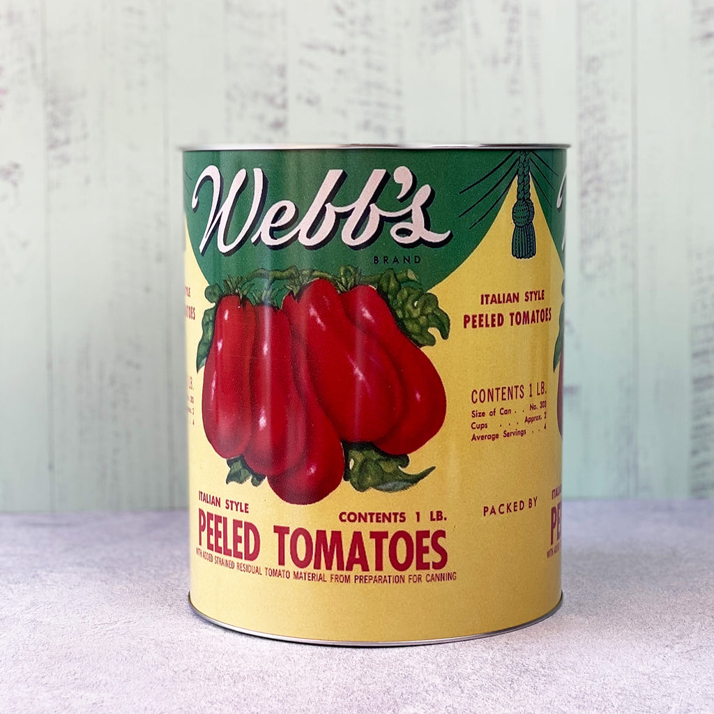 Giant Peeled Tomatoes Storage Tin
