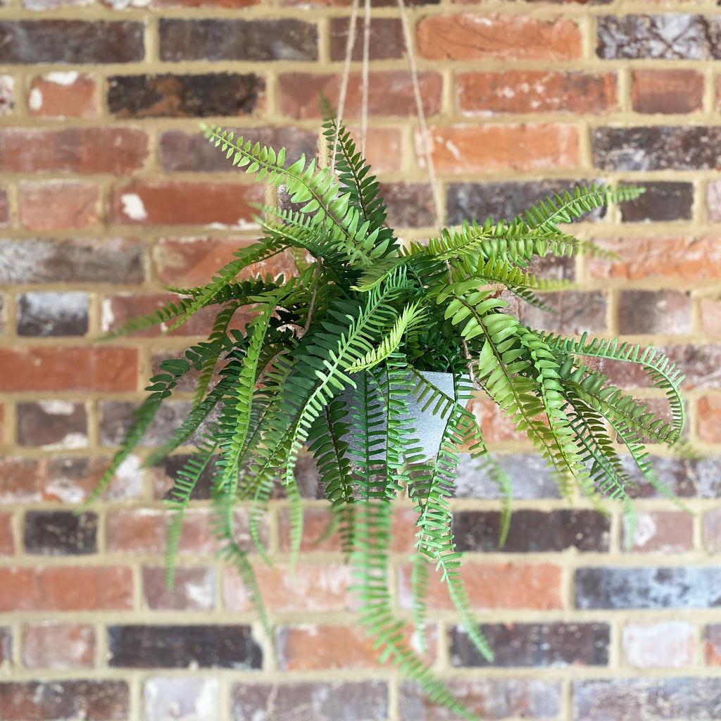 Hanging Faux Fern In Pot