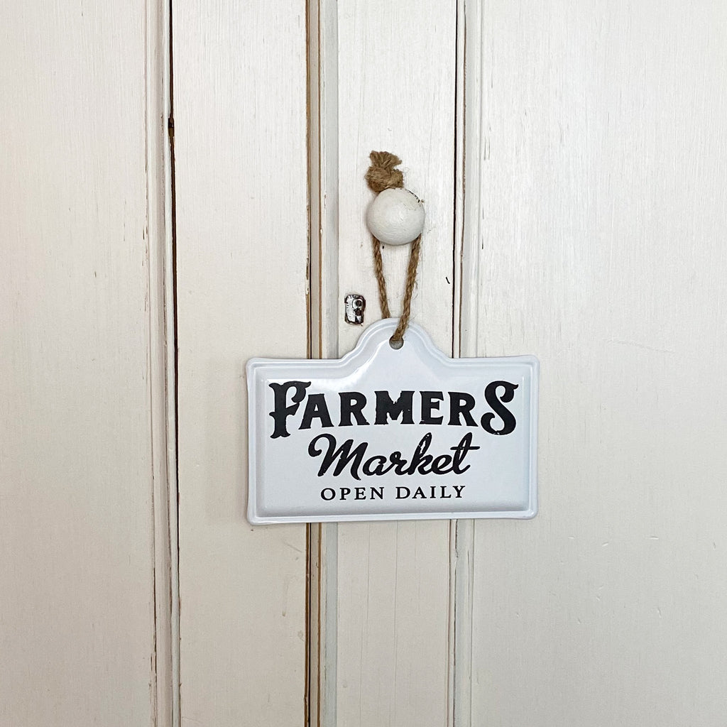 Farmers Market Enamel Sign